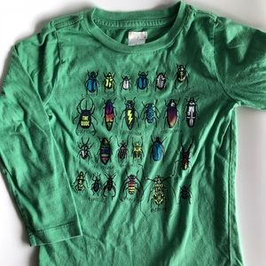 J.crew crewcut green insects long sleeve T-shirt